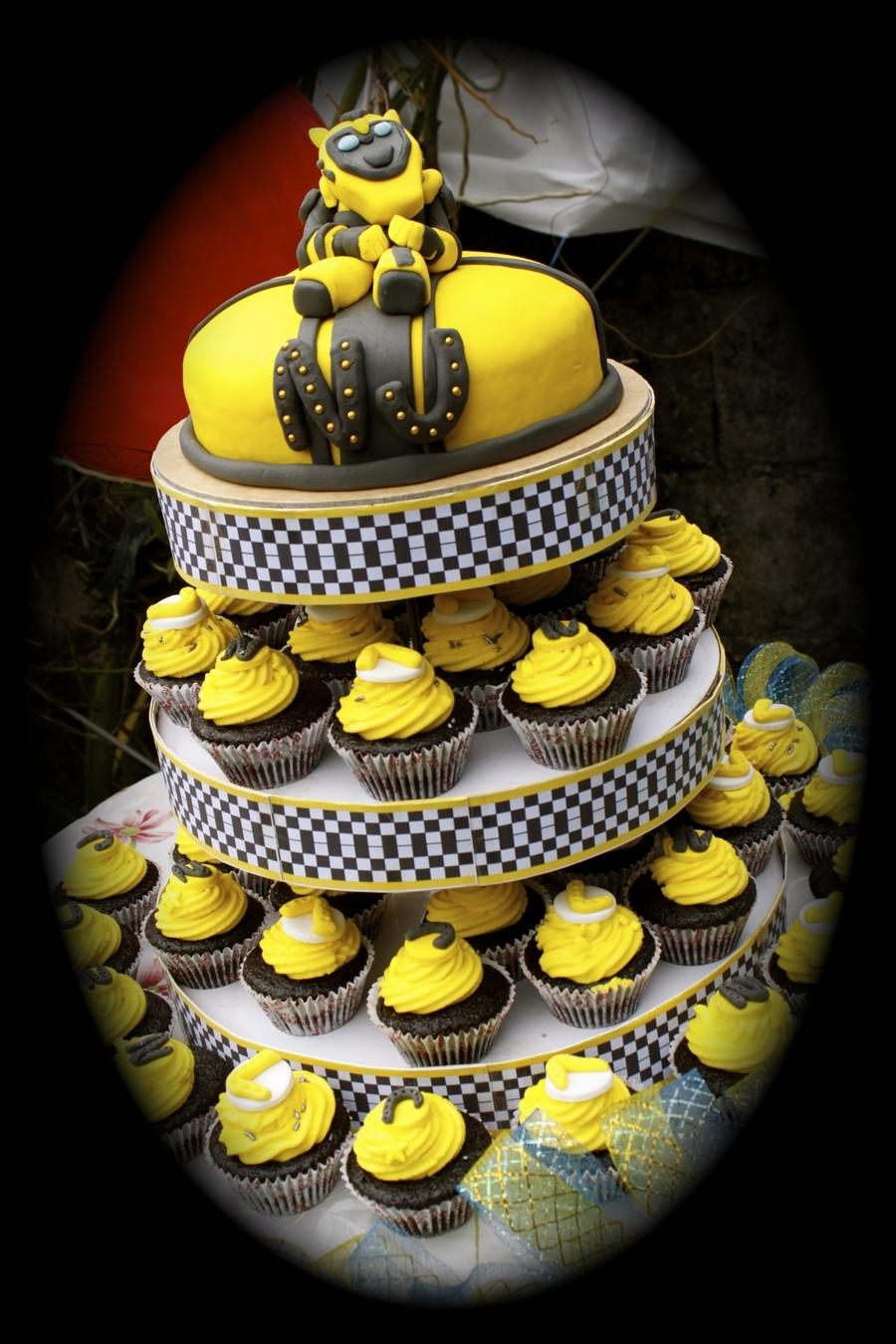 Transformer Cupcake Cake