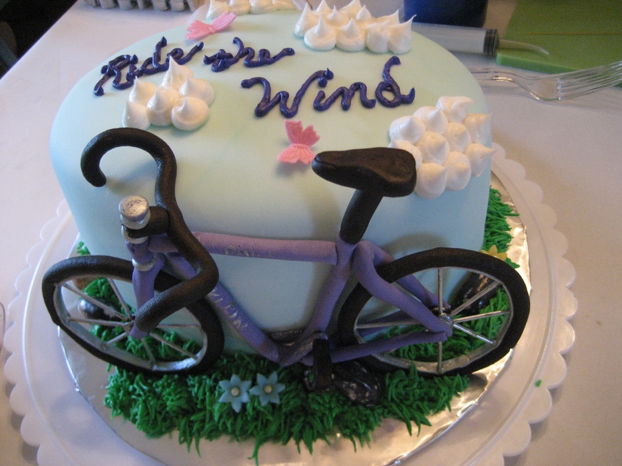 Astounding Bicycle Birthday Cake Cakecentral Com Funny Birthday Cards Online Overcheapnameinfo