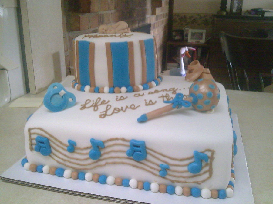 Music Themed Baby Shower Cake On Cake Central