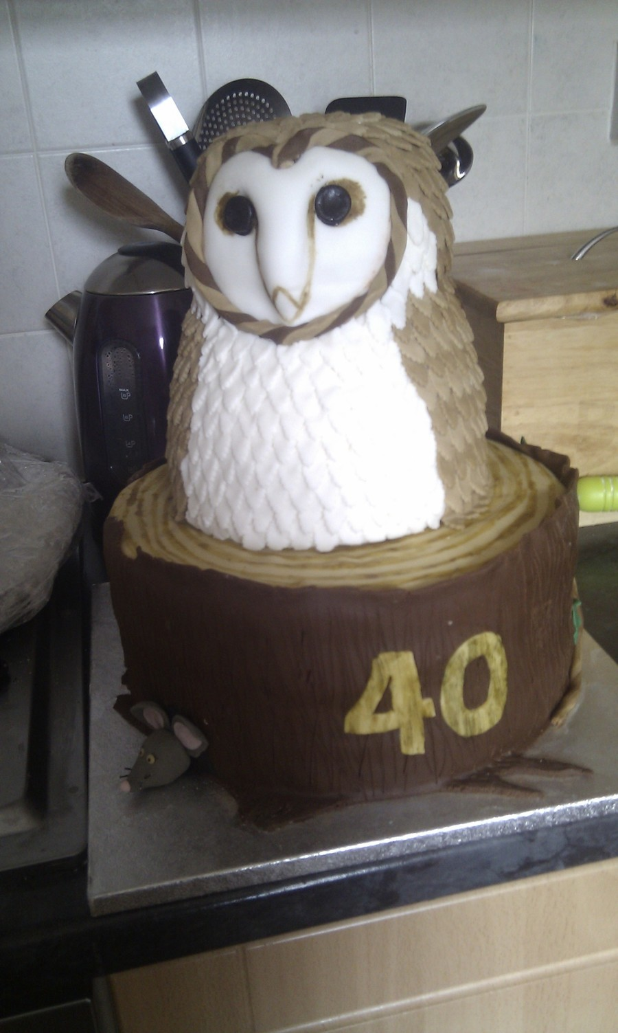 Barn Owl Cake on Cake Central