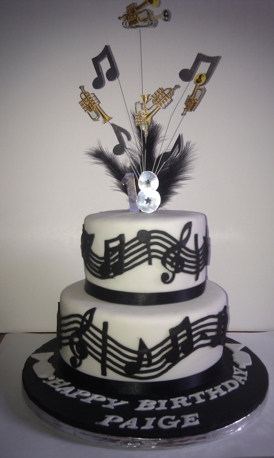 Cake Design Musical Notes : Music/trumpet Theme Cake - CakeCentral.com