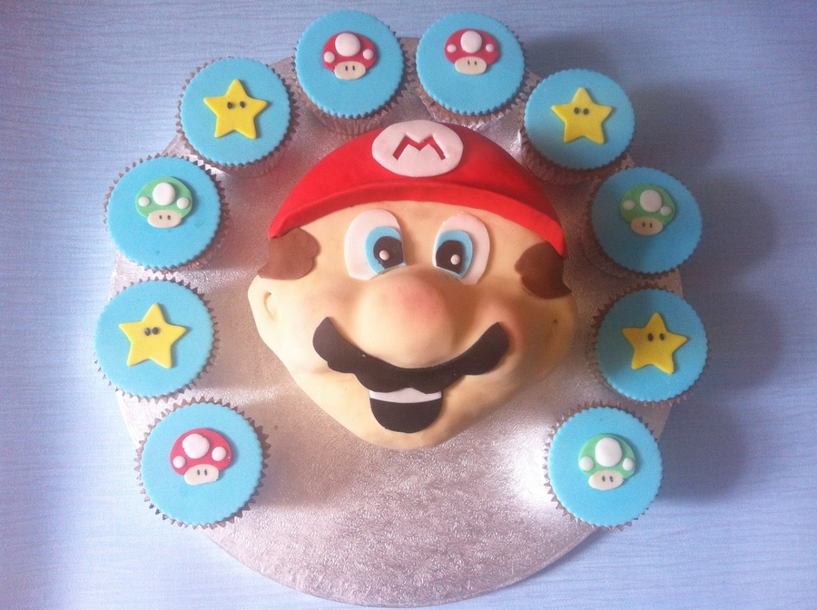 Mario Cake And Cupcakes  on Cake Central