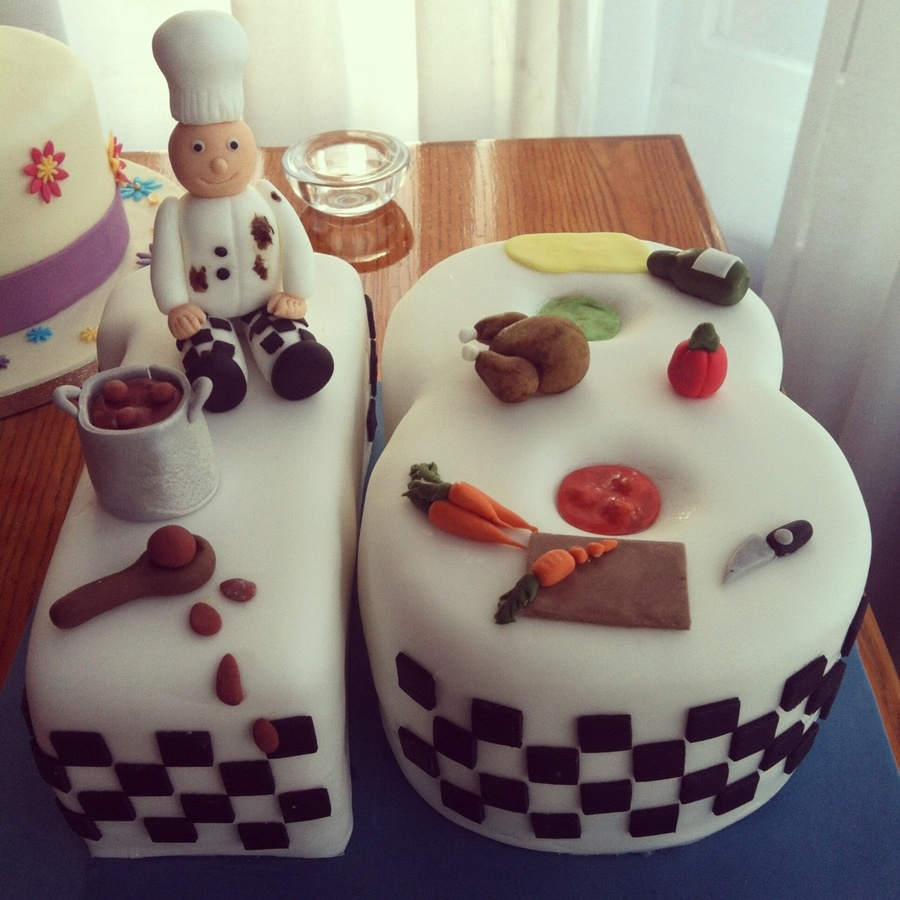 18Th Birthday Cake For A Chef