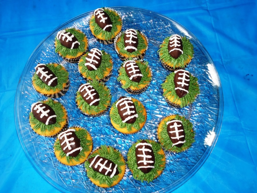 Chocolate Truffle Football Cupcakes on Cake Central