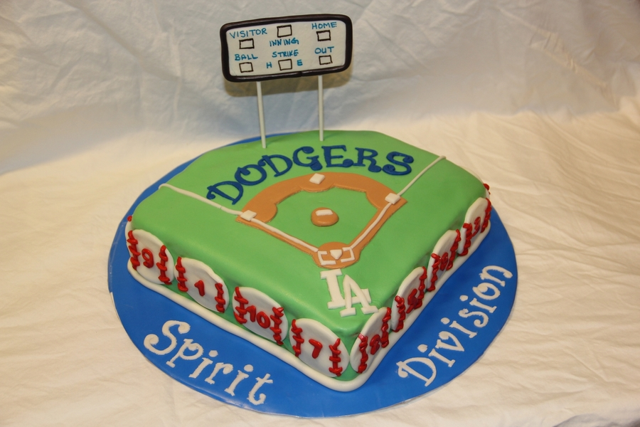 Dodgers Tball on Cake Central