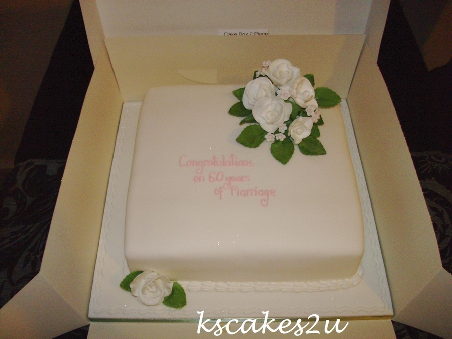 60Th Wedding Anniversary  on Cake Central