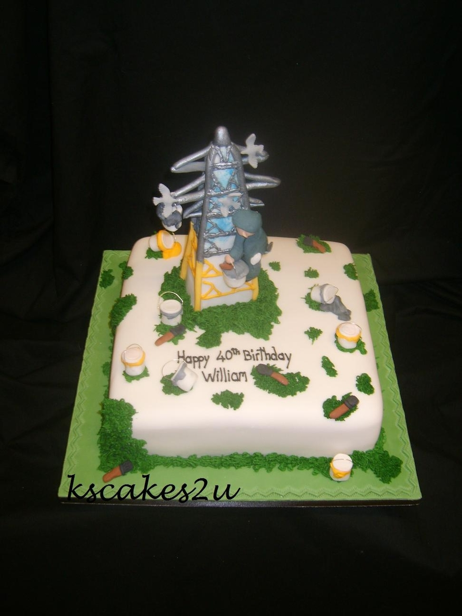 electricity pylon cake