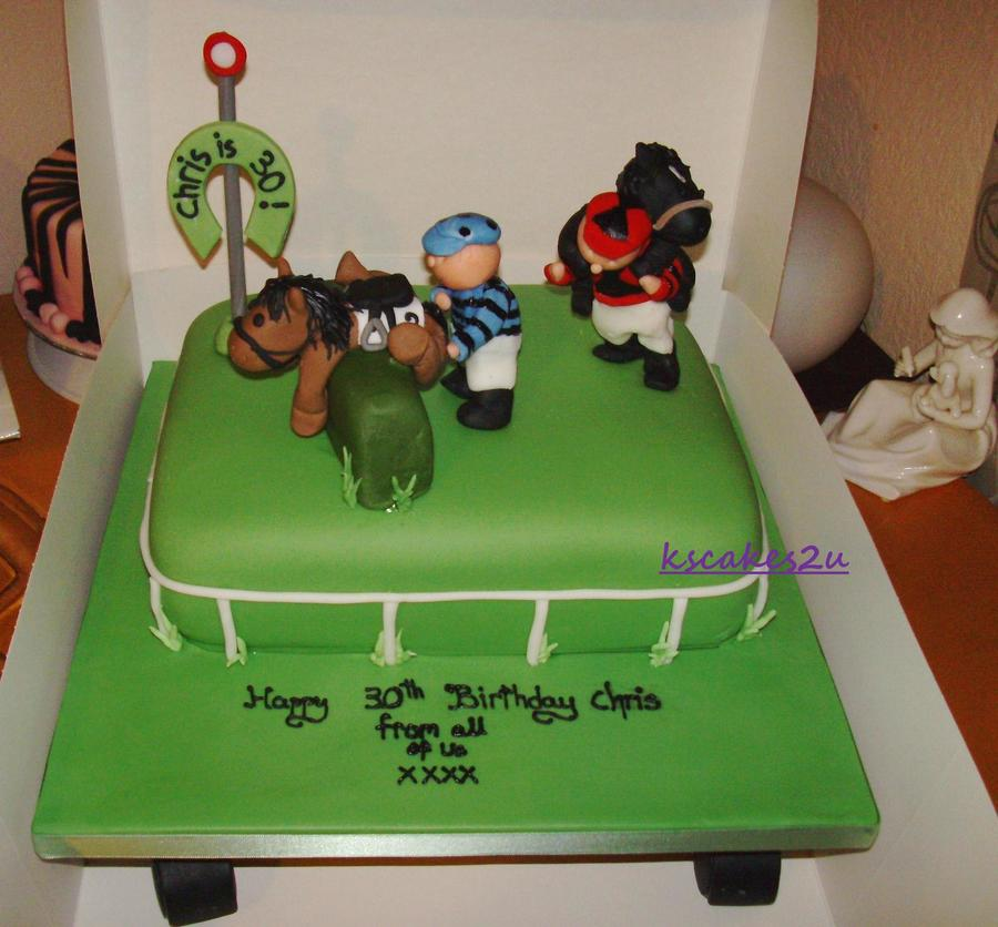 Horse Racing Birthday Cake on Cake Central
