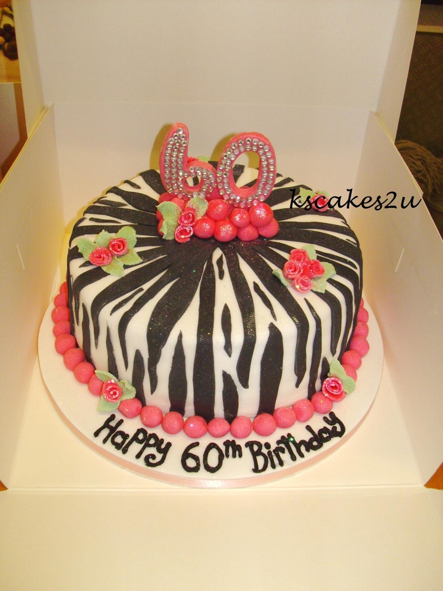 Zebra & Diamante Cake on Cake Central