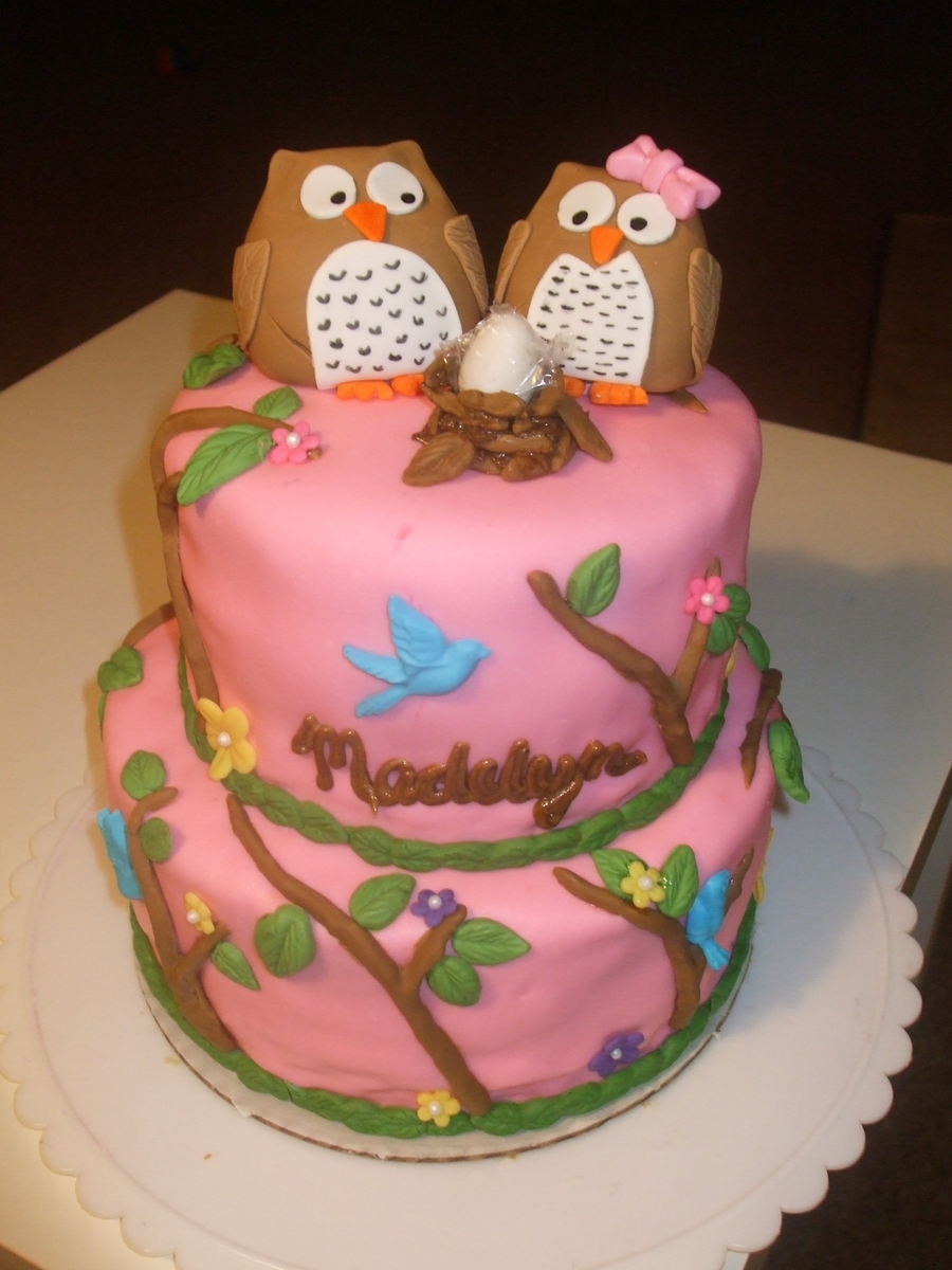 Owl Family on Cake Central
