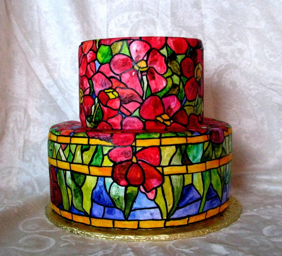 Inspired By Tiffany's Oriental Poppy Lamp on Cake Central