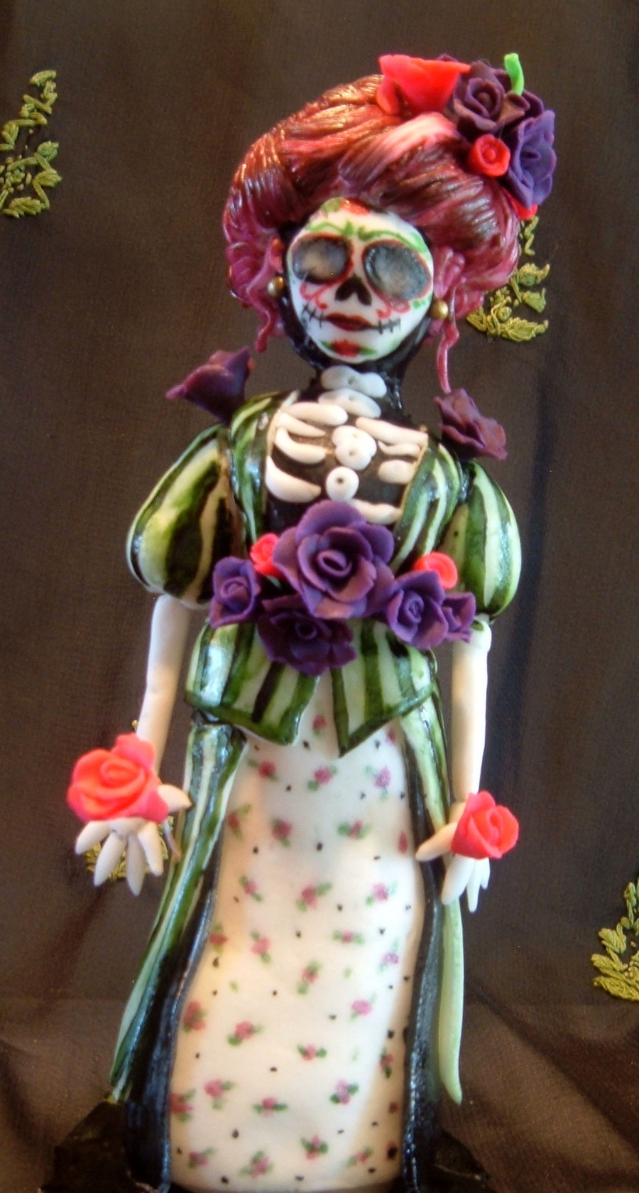 Day Of The Dead Gibson Girl on Cake Central