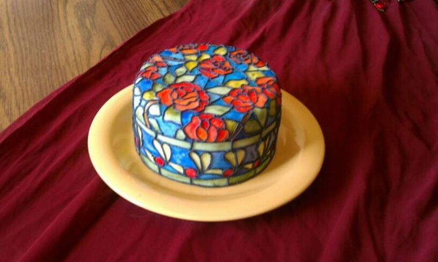 Tiffany Pattern Stained Glass Cake Cakecentral Com