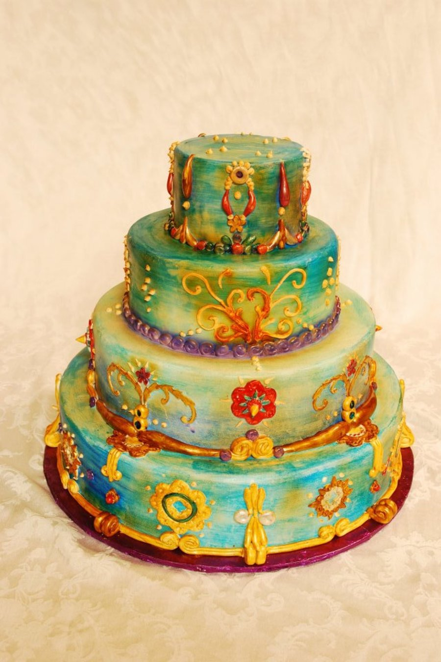 East Indian Inspired Wedding Cake On Central