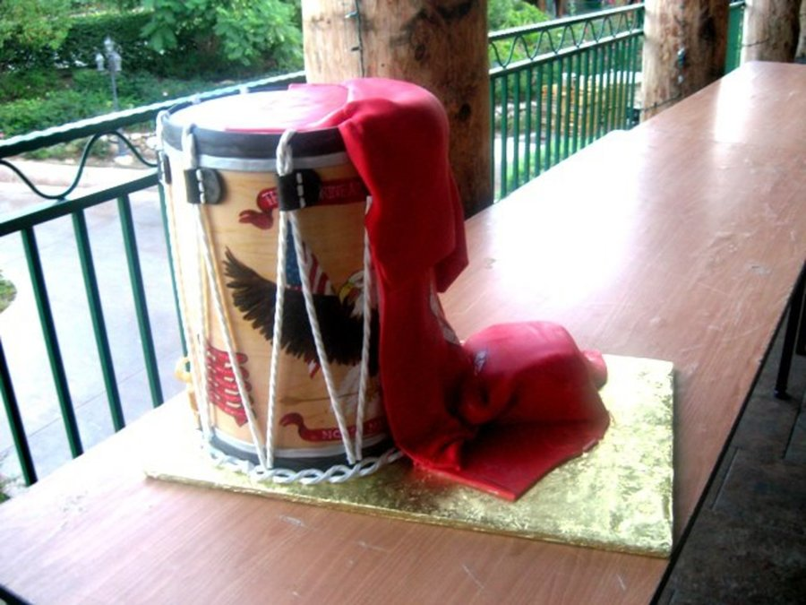 Ceremonial Drum Cake. on Cake Central