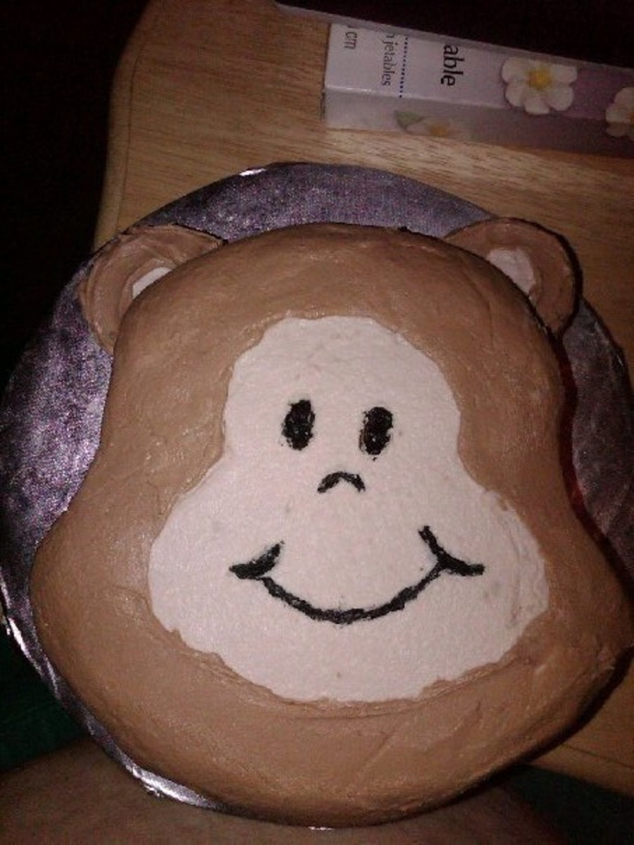 Monkey Face Cake on Cake Central