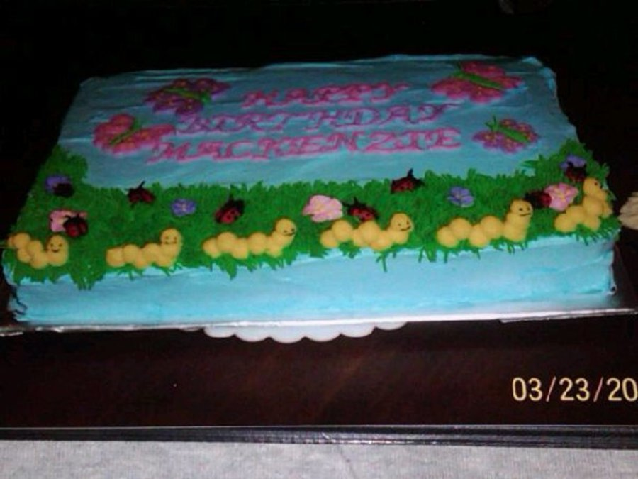 Ladybugs And Caterpillars--Side View on Cake Central