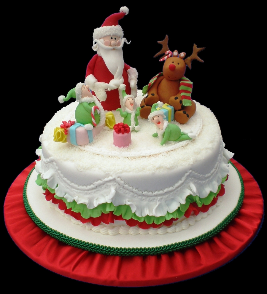 Christmas Cake - Raquel Palacios on Cake Central