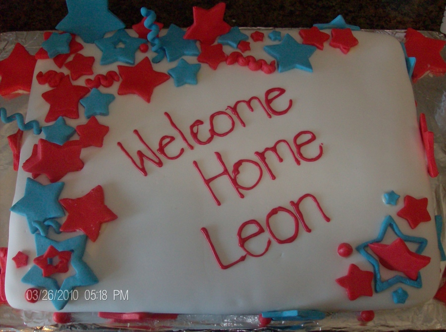 My Hubby's Welcome Home Cake. on Cake Central