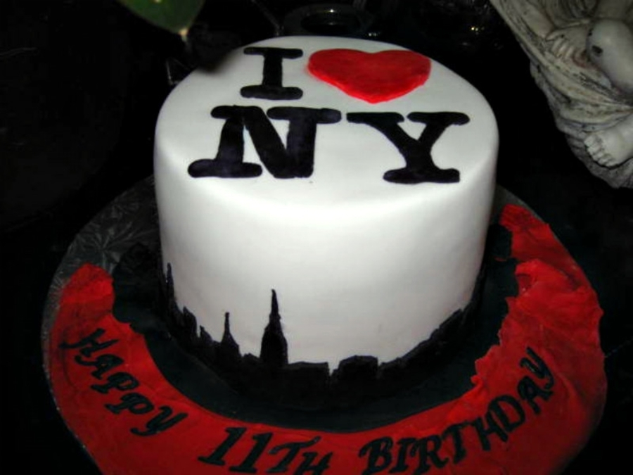 Tremendous New York City Cake Cakecentral Com Birthday Cards Printable Riciscafe Filternl