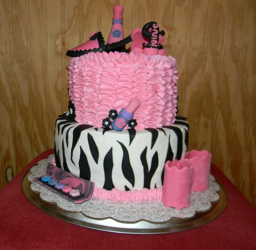 Peachy Emilys Ninth Girly Girl Birthday Cakecentral Com Personalised Birthday Cards Xaembasilily Jamesorg