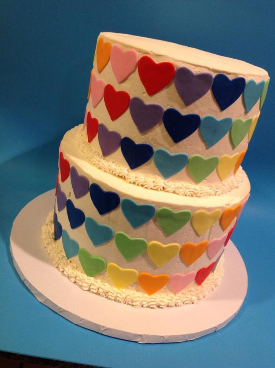 Rainbow Hearts on Cake Central