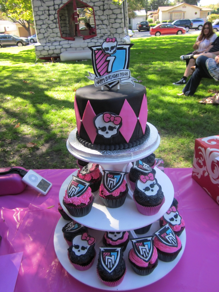 Monster High Cupcake Tower Cakecentral Com