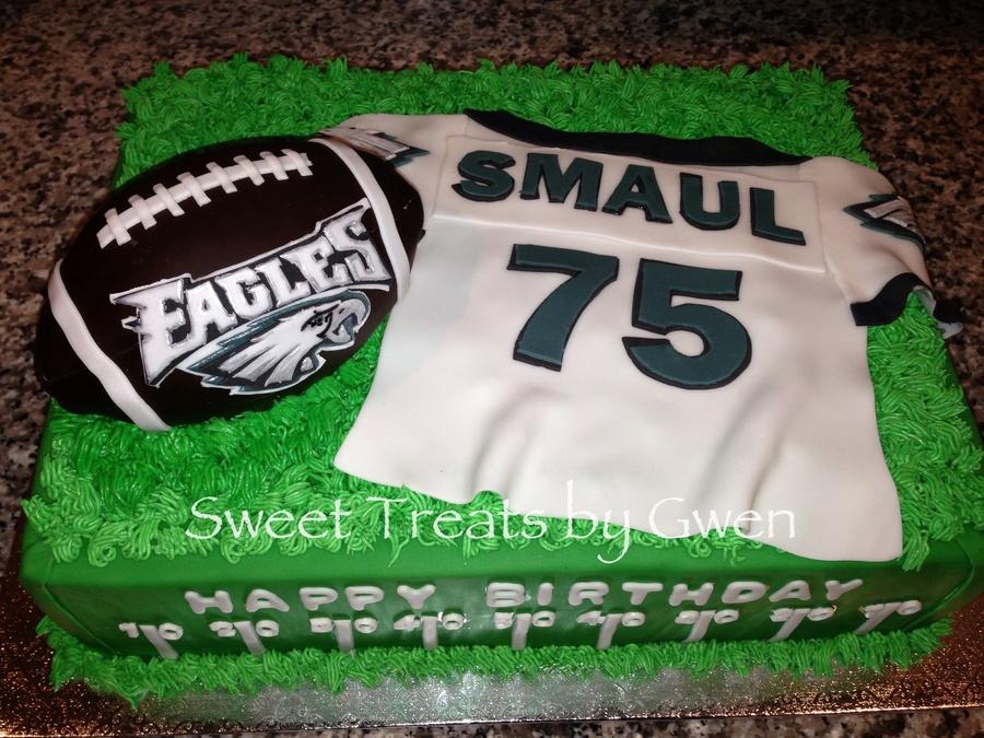 size 40 b5f5d b6b05 Philadelphia Eagles Cake Fondant Personalized Jersey ...