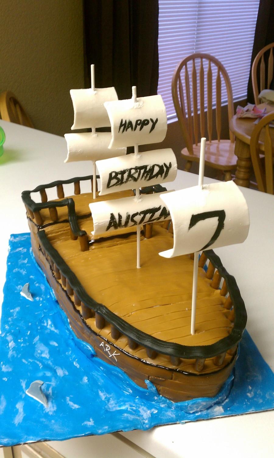 Super Pirate Ship Birthday Cake Cakecentral Com Funny Birthday Cards Online Inifofree Goldxyz
