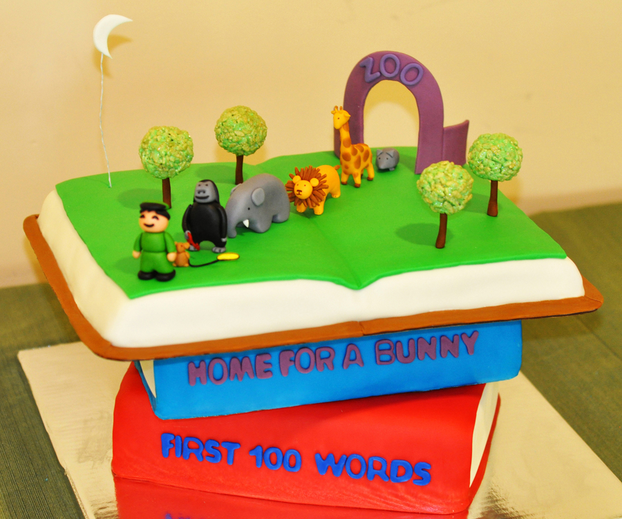 3 Tiered Book Cake on Cake Central
