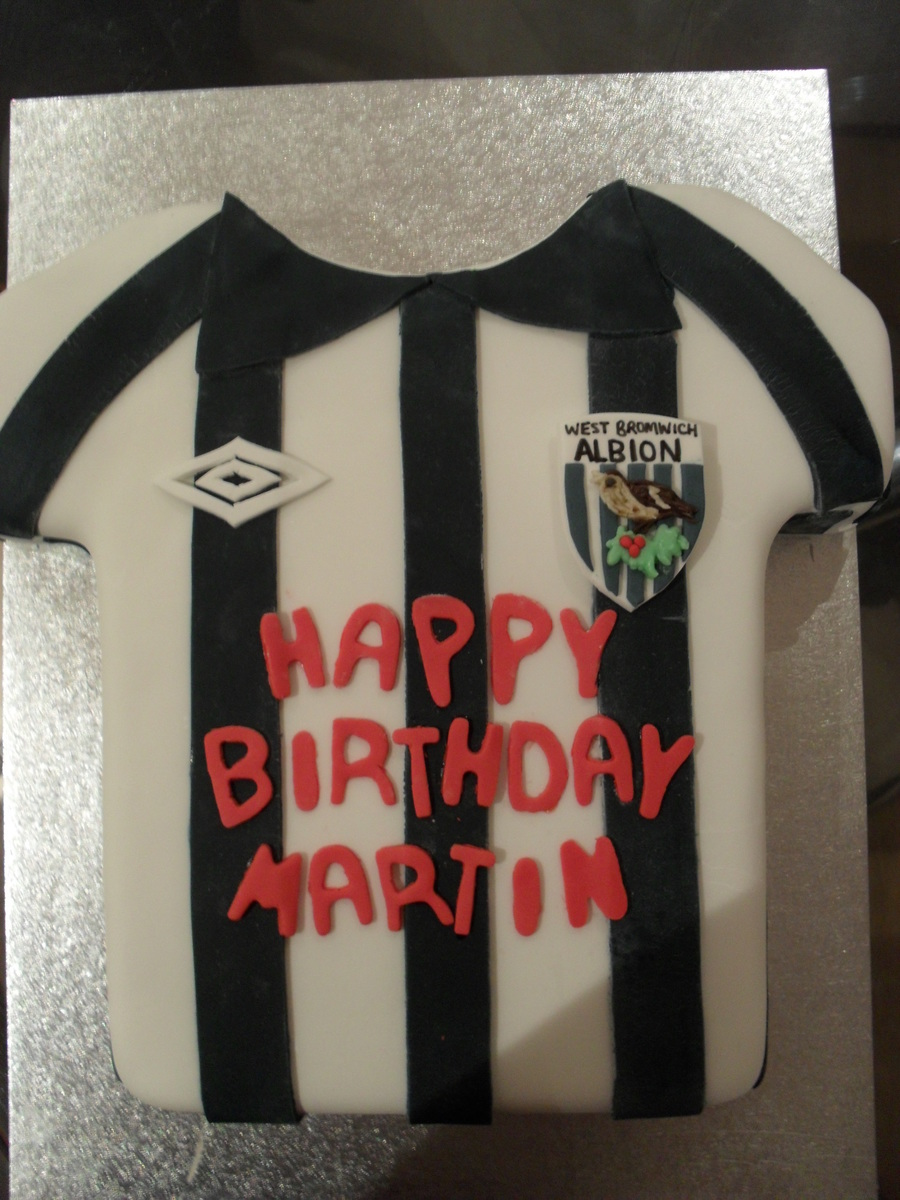 West Brom Football Shirt on Cake Central