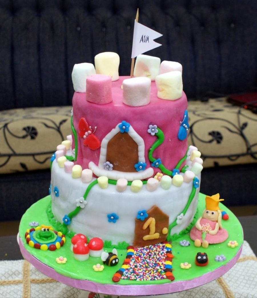 Whimsical Castle Cake on Cake Central