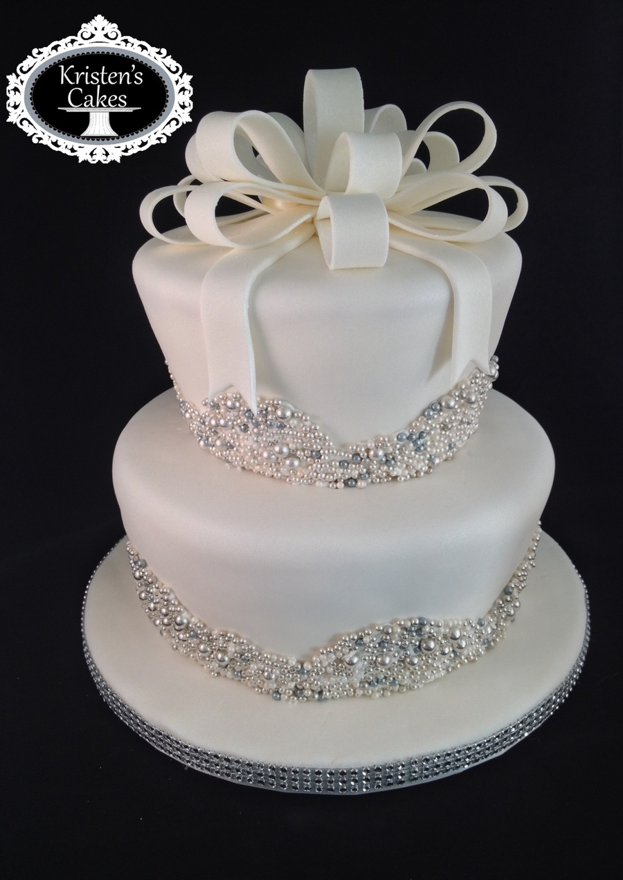 c2c9137d893 Bling Bridal Shower Cake - CakeCentral.com