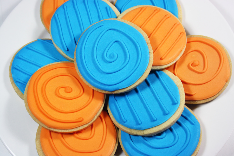 Blue And Orange Cookies on Cake Central