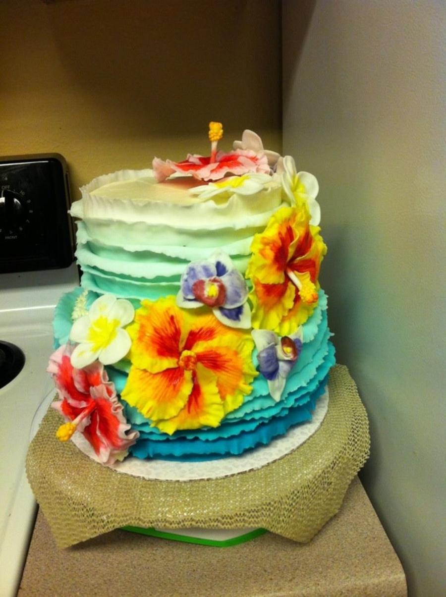 Hawaiian Theme Cake Cakecentral Com