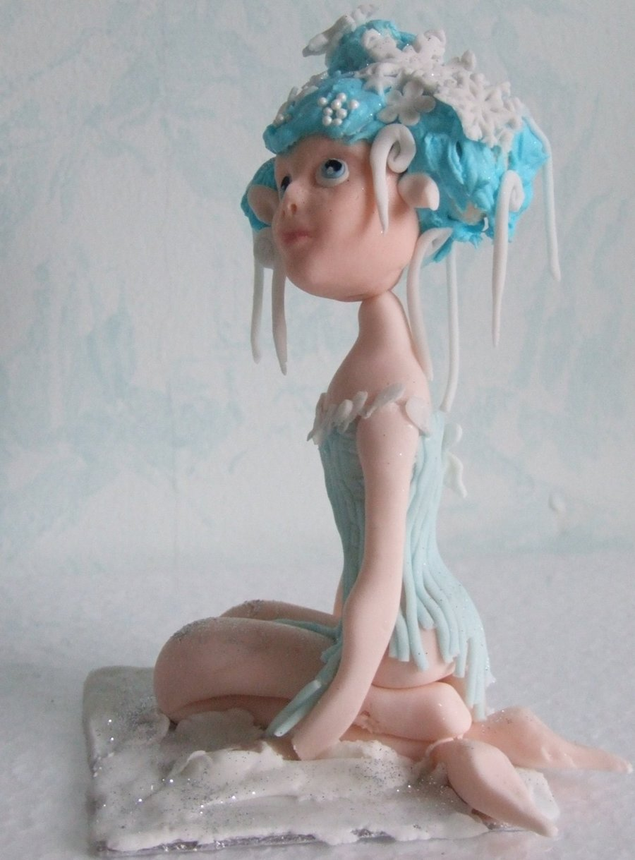 Winter Fairy 02 on Cake Central