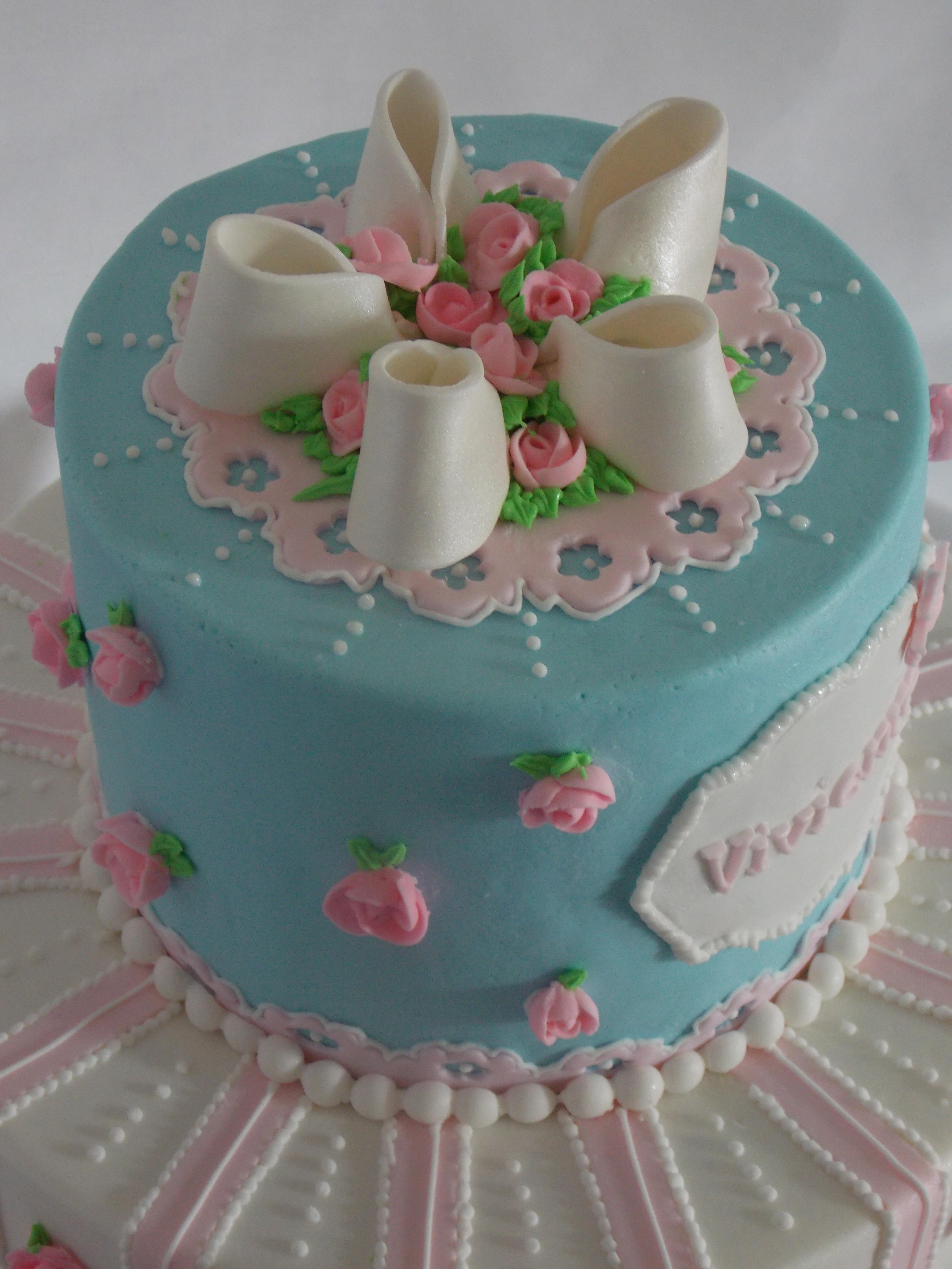 Super Shabby Chic Birthday Cake Royal Icing Roses This Was My First Personalised Birthday Cards Vishlily Jamesorg