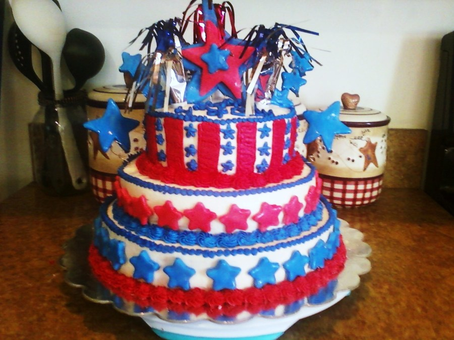 4Th Of July !!! on Cake Central