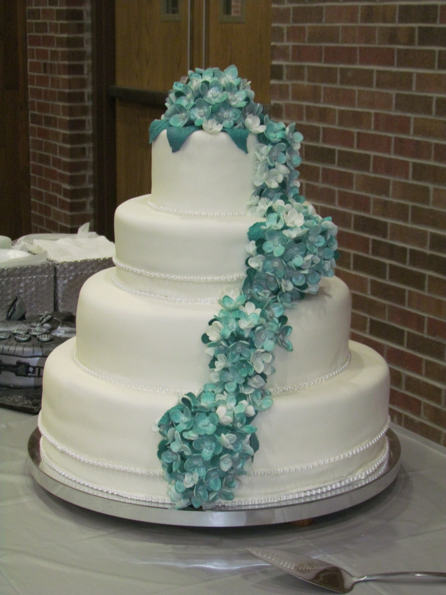 Hydrangea Wedding on Cake Central