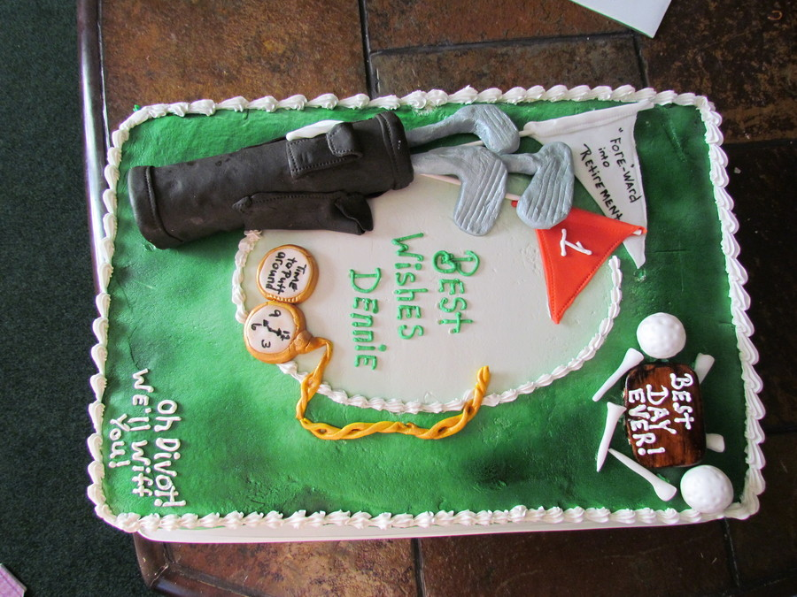 Retirement Cake For An Avid Golfer on Cake Central