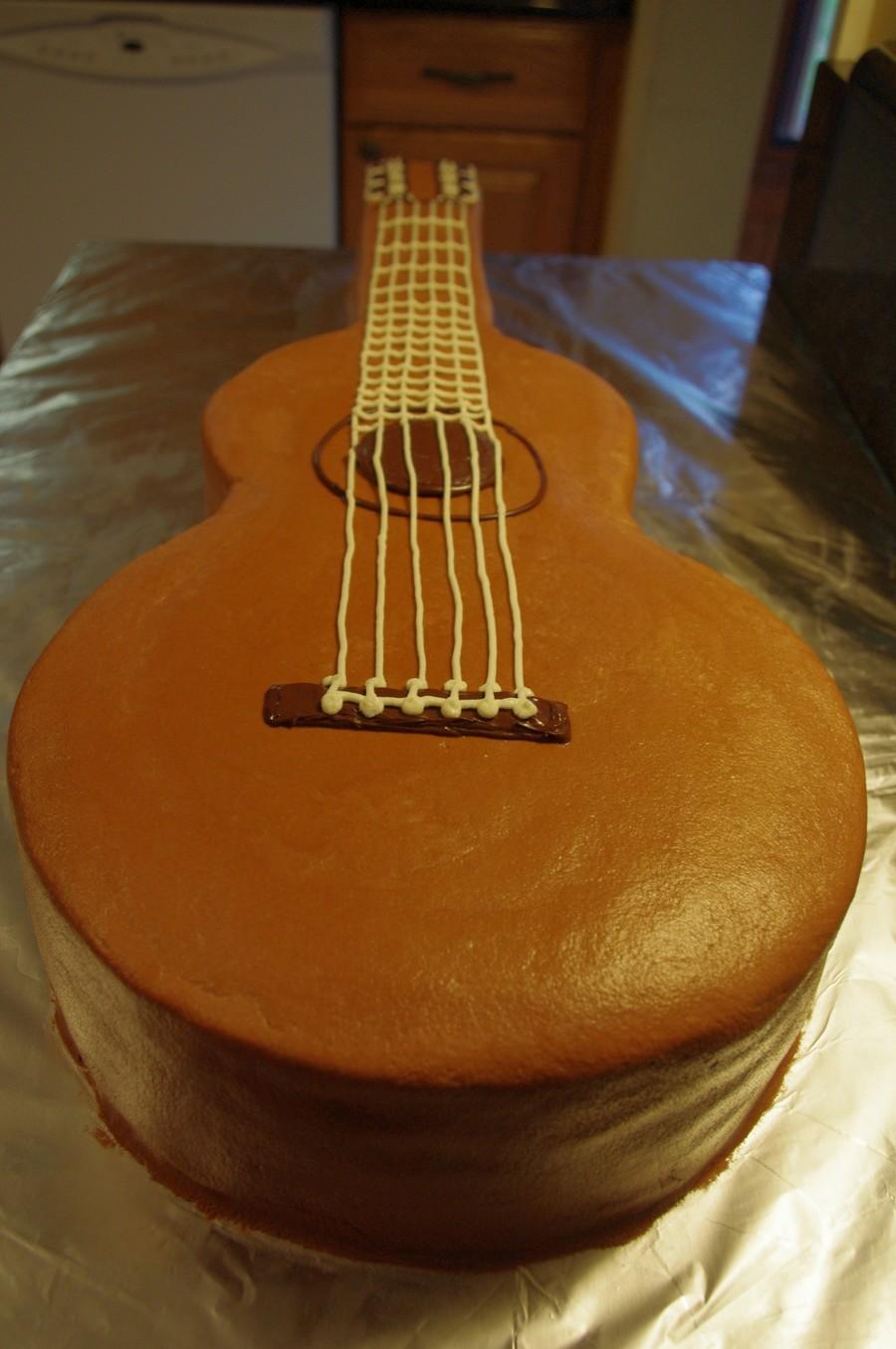 guitar templates for cakes - classical guitar cake