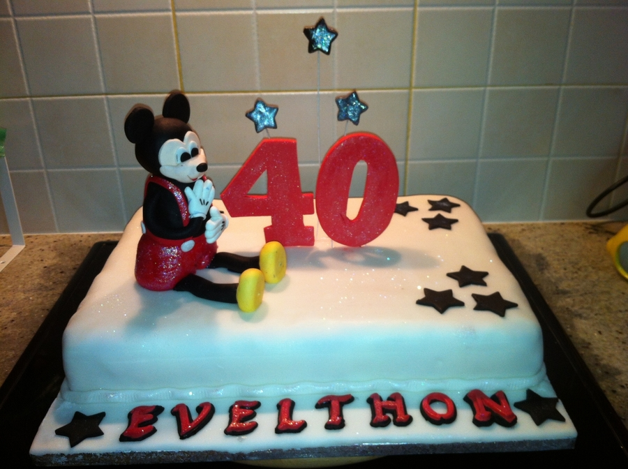 Mickey 40Th Birthday Cake on Cake Central