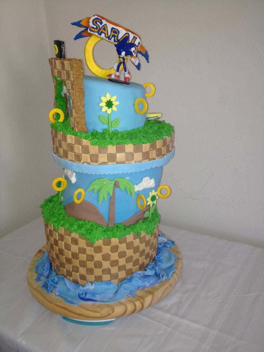 Sonic The Hedgehog Cake - CakeCentral.com