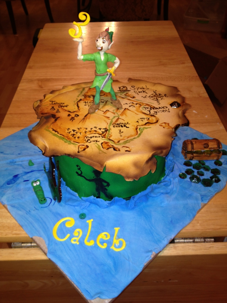 Magnificent Peter Pan Neverland Birthday Cake Cakecentral Com Personalised Birthday Cards Beptaeletsinfo