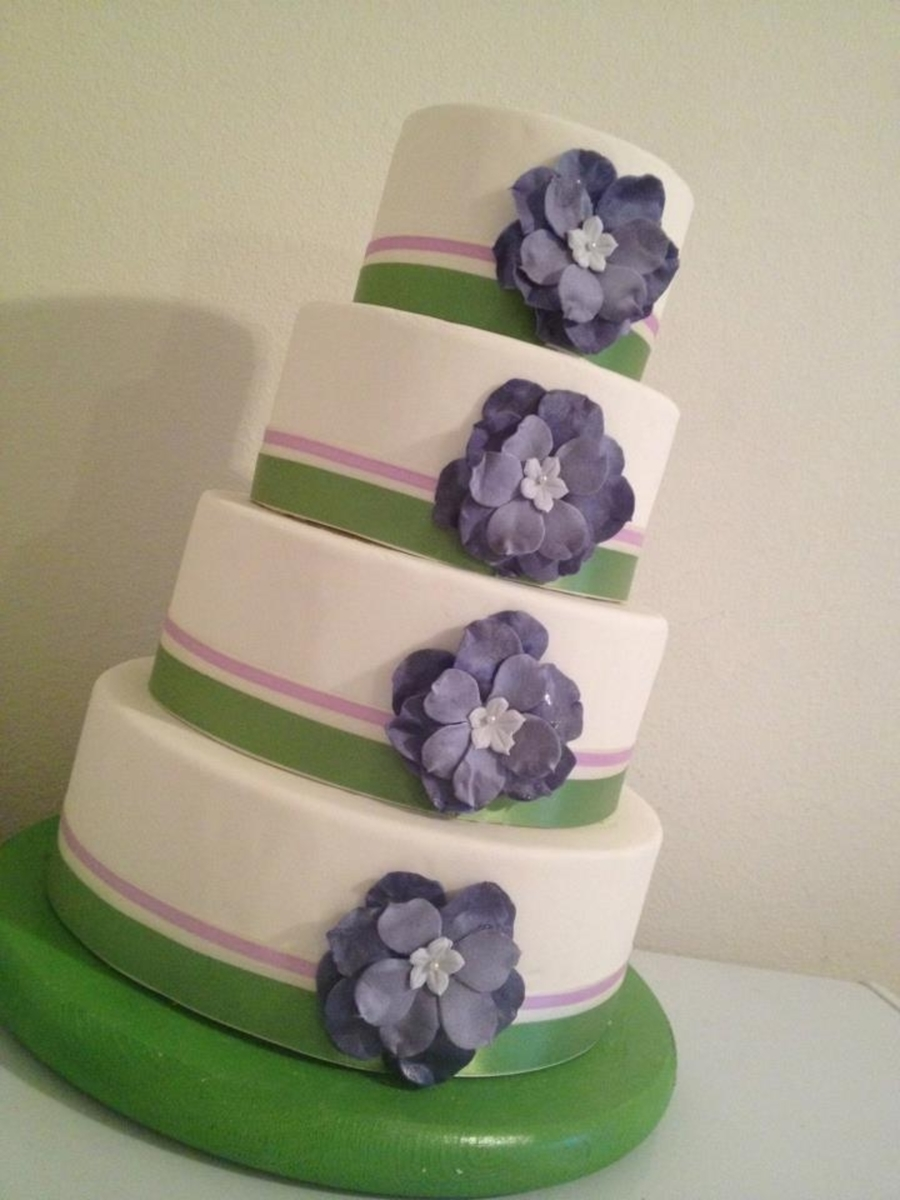 wedding cake designs purple and green purple and green wedding cake cakecentral 22492