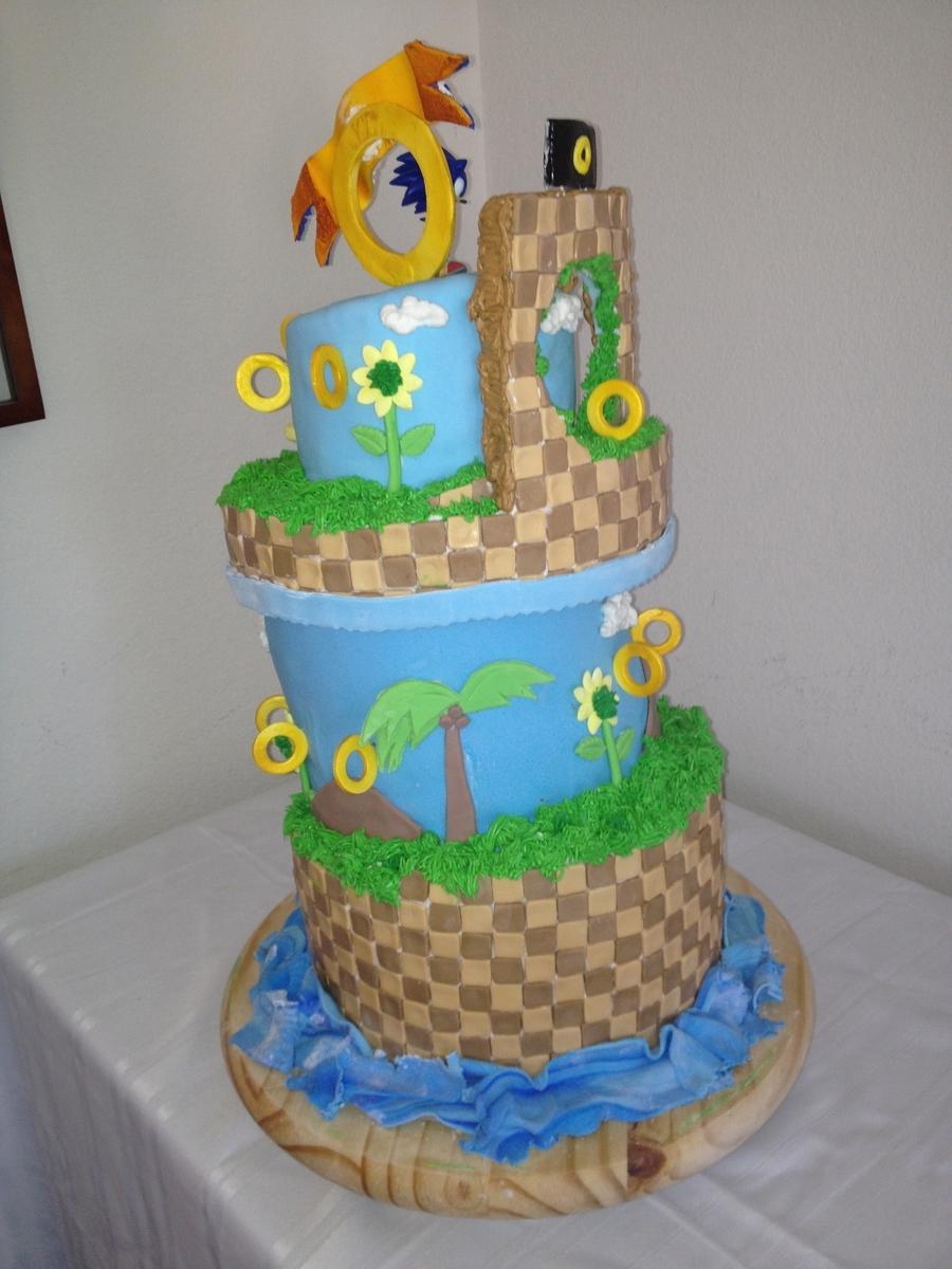 Sonic The Hedgehog Cake Decorations