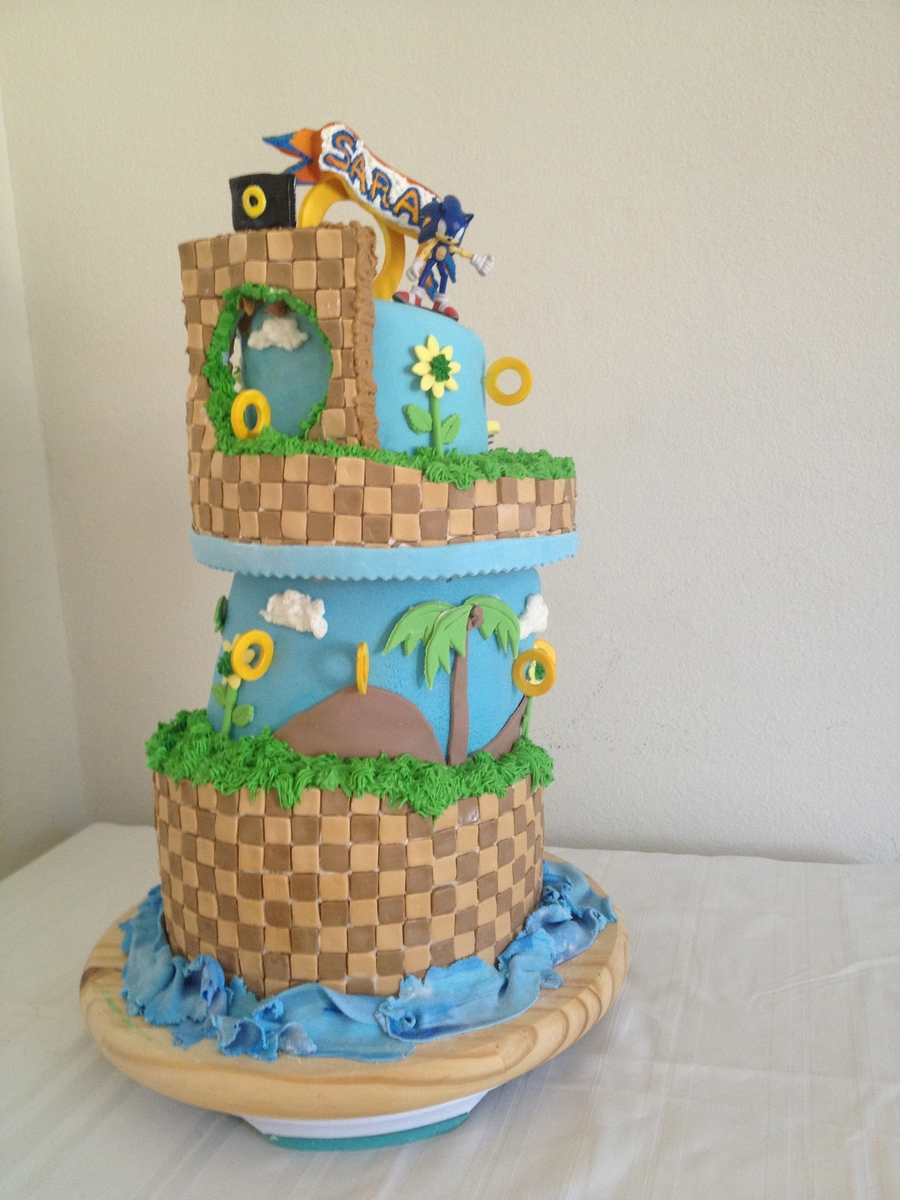 sonic the hedgehog cake sonic the hedgehog cake cakecentral 7593