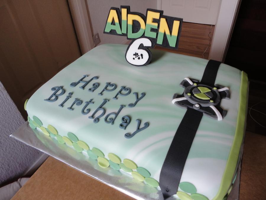 Ben 10 Inspired Birthday Cake Cakecentral