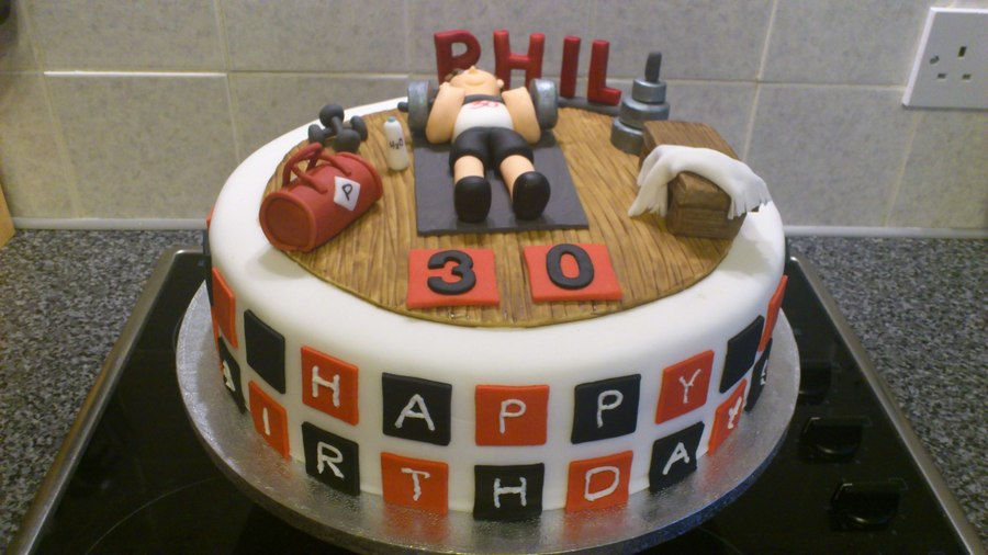 Gym Fanatic 30th Birthday Cakecentral