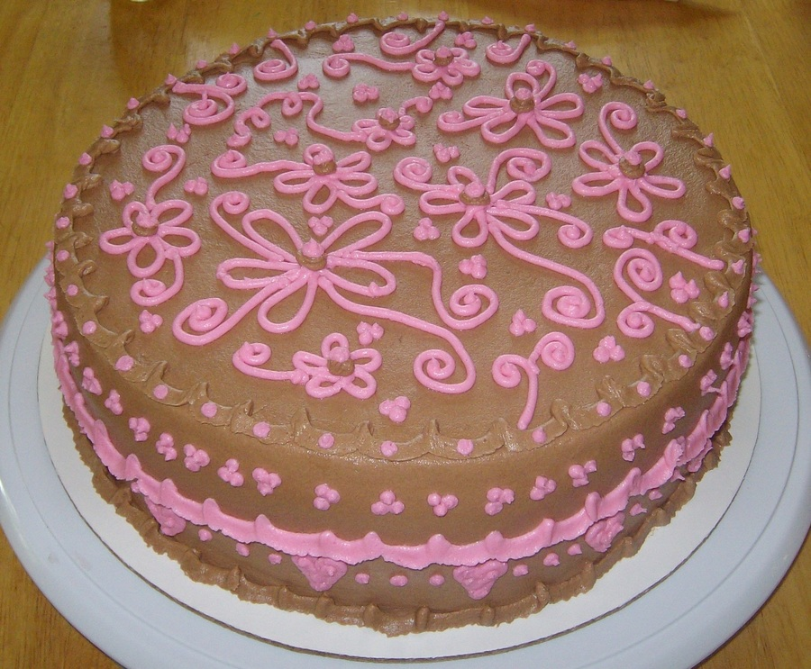 Brown & Pink on Cake Central